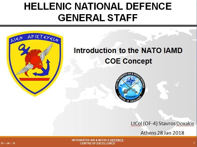 Introduction to NATO IAMD COE Concept